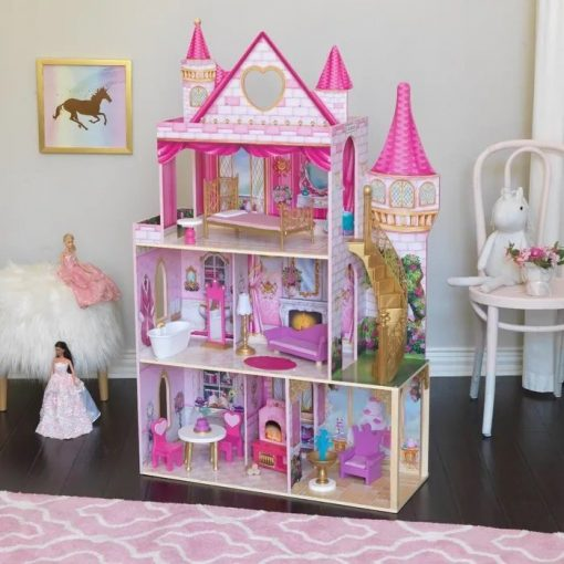Kidkraft Rose Garden Castle is fit for a princess with magical features, this wooden dolls house heralds a beautiful world of pretend play