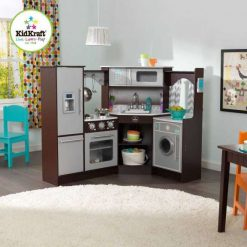 Kidkraft Ultimate Corner Play Kitchen with Sounds and Lights would be the ultimate for any aspiring Chef, with its realistic look and feel.