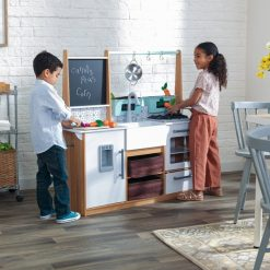 KidKraft Farmhouse Play Kitchen with its contemporary styling will inspire and delight kids as they show off their green thumbs