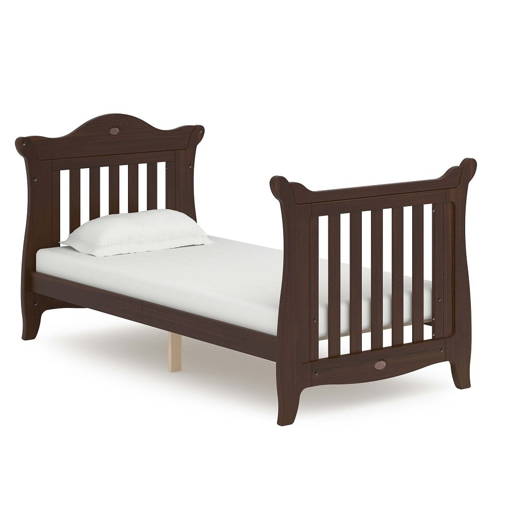 Boori Sleigh Expandable Cot Bed Wood Coffee