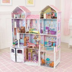 Kidkraft Country Estate Doll House is a large deluxe wooden dollhouse that stands over 122 cm tall and comes with 30 fun furniture pieces.