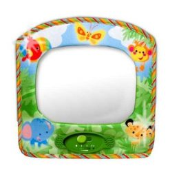 Brightly coloured Rainforest themed Baby Car Mirror