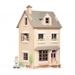 Foxtail Wooden Doll House in grand townhouse styling comes fully furnished with detailed matching Doll furniture
