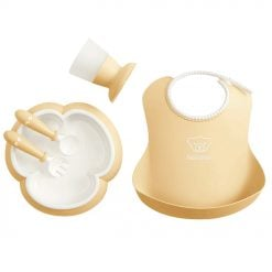 Babybjorn Baby Feeding Gift Set Powder Yellow