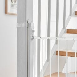 BabyDan Staircase Adapter Kit allows to mount your safety gate to a round or square baluster, no need to drill or screw into your post,