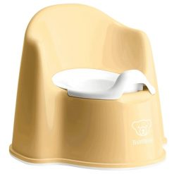 Babybjorn Potty Chair in Yellow with high back and removable inner