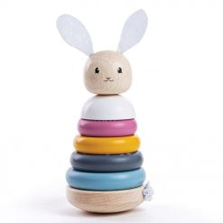 Wooden Stacking Rabbit in natural colours
