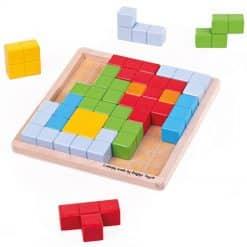 Bigjigs Wooden Pattern Blocks