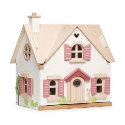 Tenderleaf Cottontail Cottage is a delightful countryside wooden dolls house, complete with furniture and cut out windows