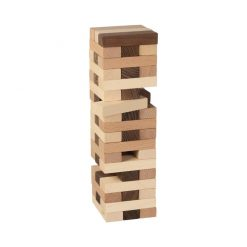 Goki Tumbling Tower Wooden Puzzle is a test of skill and patience. The player who makes the tower tumble has lost! Great Family Game