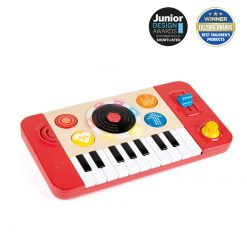 Hape DJ Mix & Spin Studio will help your little ones spin their first tunes with this portable DJ studio! Suitable for 12Months - 5 Years