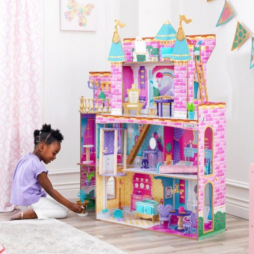 Kidkraft Princess Party Castle will ensure that there will never be a dull moment with this wooden dolls house, filled with fancy furniture