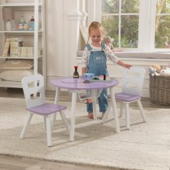 Kidkraft Round Storage Table & 2 Chairs Lavender, would be ideal for any child, whether coloring, crafting, doing homework or enjoying a snack