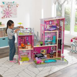 Kidkraft Uptown Dollhouse is a stylish wooden dolls house, where dolls get to live lives of true luxury, complete with accessories