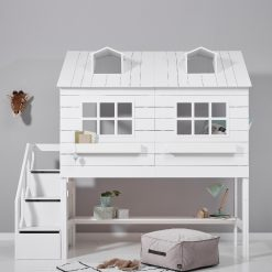Lifetime Lake House Semi High Bed With Steps