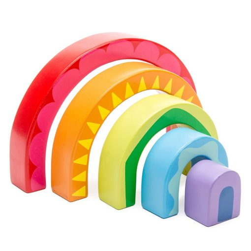 Petilou Rainbow Tunnell is a colourful and cute, Rainbow Tunnel Stacking Toy, which is sure to be adored by your little ones!
