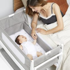 Snuzpod Bedside Cot keeps your Baby close, safe and secure with this removable bassinet with breathable sides