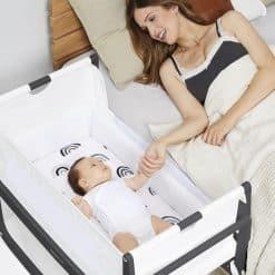 Snuzpod 4 Bedside Cot incl. Mattress Slate Grey