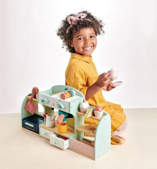 Tenderleaf Bird's Nest Café a one-stop pretend play wooden Coffee Shop with lots of accessories