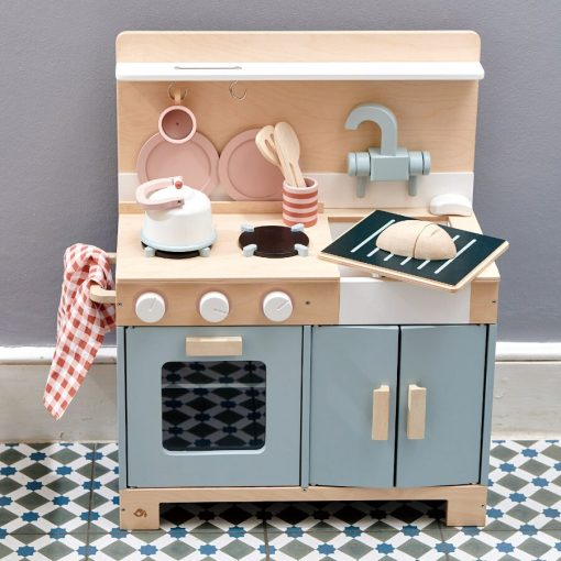 Tender Leaf Toys Home Kitchen with its gender-neutral and super cool styling will help your little chef cook up a storm,
