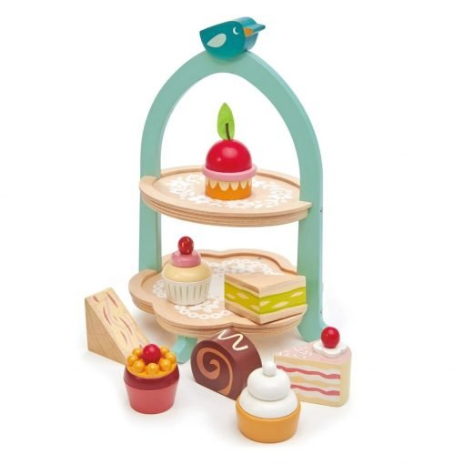 Tender Leaf Birdie Afternoon Tea Stand ideal for ideal for imaginary tea parties, helps develop coordination and language skills