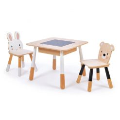 Forest Animals Kids Wooden Table & Chair Set is a gorgeous set for little ones that will look great anywhere, with cute animal chairs