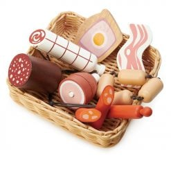 Tenderleaf Toys Charcuterie Basket would be a wonderful addition to any wooden play kitchen or shop. Suitable for 3 Years +