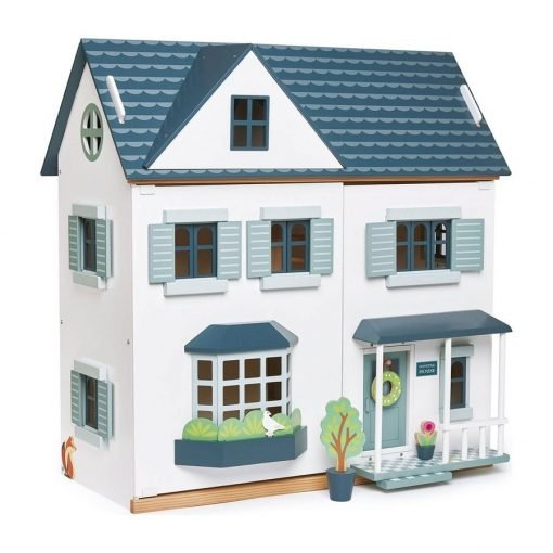 enderleaf Dovetail Dollhouse, the dollhouse of your dreams! Large, spacious and ultra-stylish, wooden dolls house with six rooms