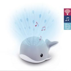 Zazu Light Projector Wally the whale is a multicolour light projector with soothing melodies, with cry sensor and 4 different colour-modes