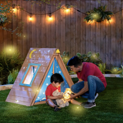 KidKraft A-Frame Hideaway & Climber is perfect size for any backyard and will make for hours of fun and imaginative play!